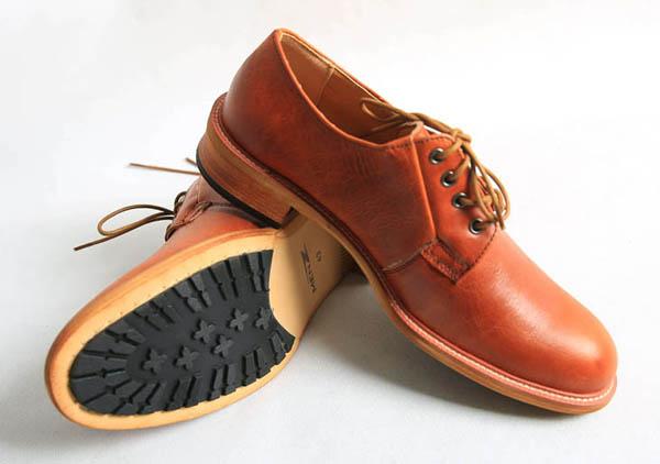 Giày Nam Công Sở Nâu Cam MZ097