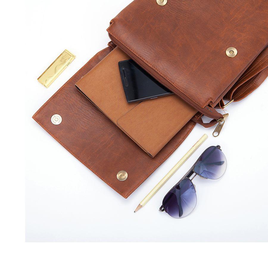 Túi da đeo chéo đựng ipad