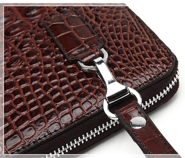 Túi đựng iPad cầm tay da thật nhập khẩu vân cá sấu TIC9-10