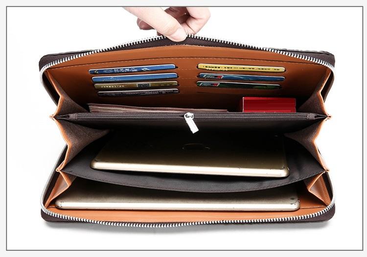 Túi đựng iPad cầm tay da thật nhập khẩu vân cá sấu TIC9-11