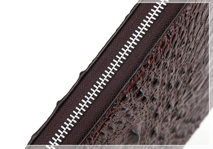 Túi đựng iPad cầm tay da thật nhập khẩu vân cá sấu TIC9-13