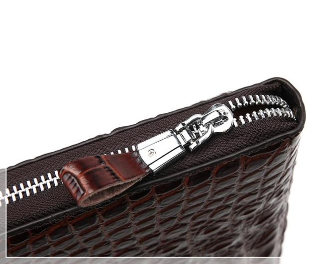Túi đựng iPad cầm tay da thật nhập khẩu vân cá sấu TIC9-15