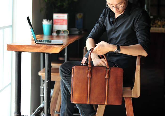 cặp da đựng laptop thời trang công sở hàng hiệu SVN