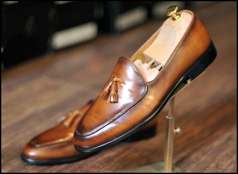 Giày cưới nam da bò