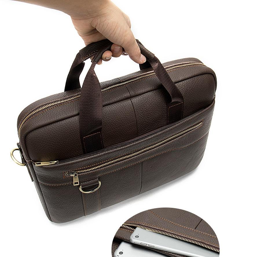 Túi xách da đựng laptop nam nữ thời trang công sở hàng hiệu SJE15-2