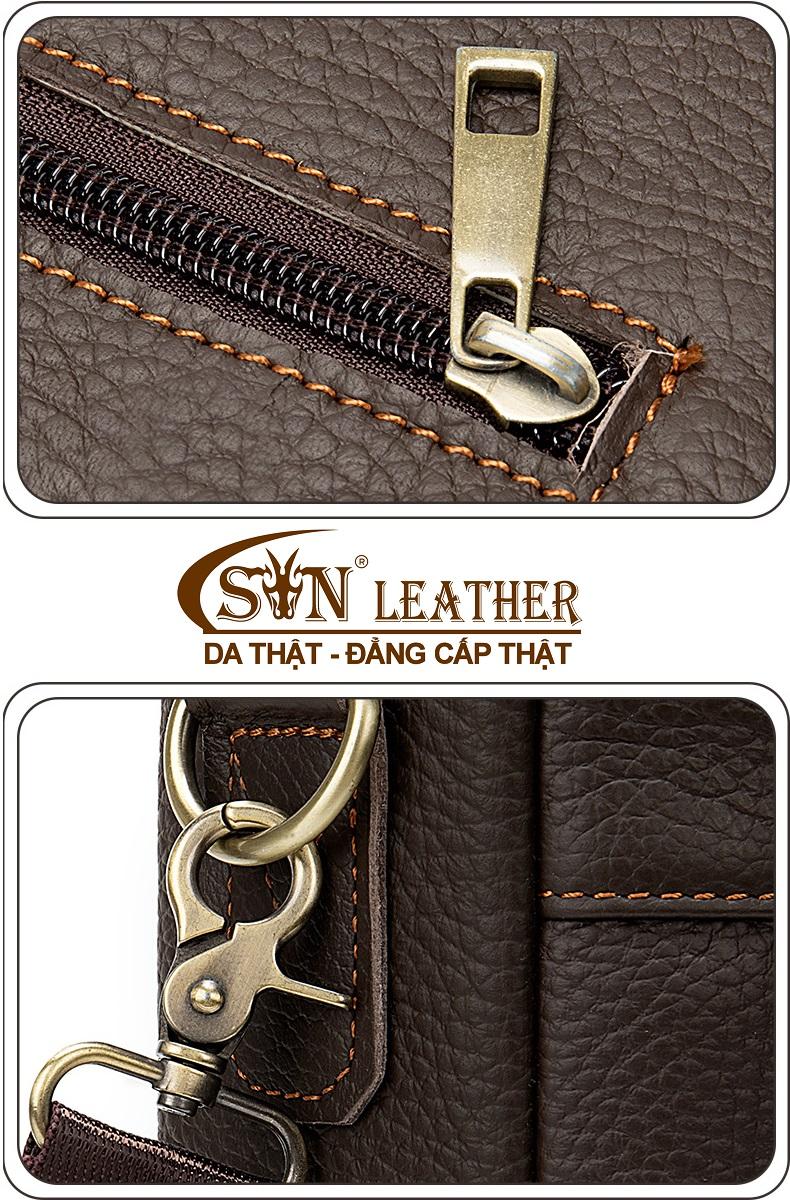 Túi xách da đựng laptop nam nữ thời trang công sở hàng hiệu SJE15-8
