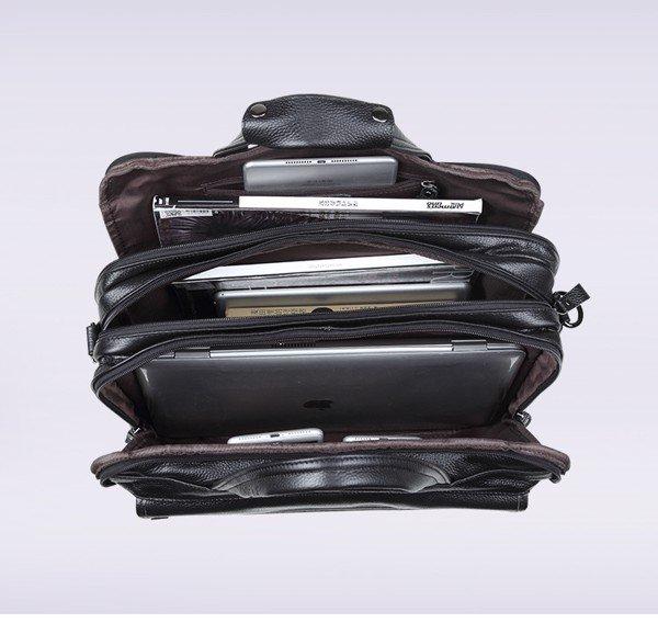 Túi xách nam đựng laptop da bò loại lớn đựng vừa laptop 15.6inch 1M2-2