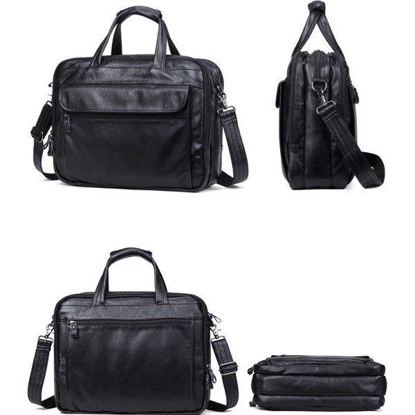 Túi xách nam đựng laptop da bò loại lớn đựng vừa laptop 15.6inch 1M2-1