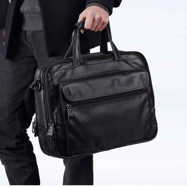 Túi xách nam đựng laptop da bò loại lớn đựng vừa laptop 15.6inch 1M2