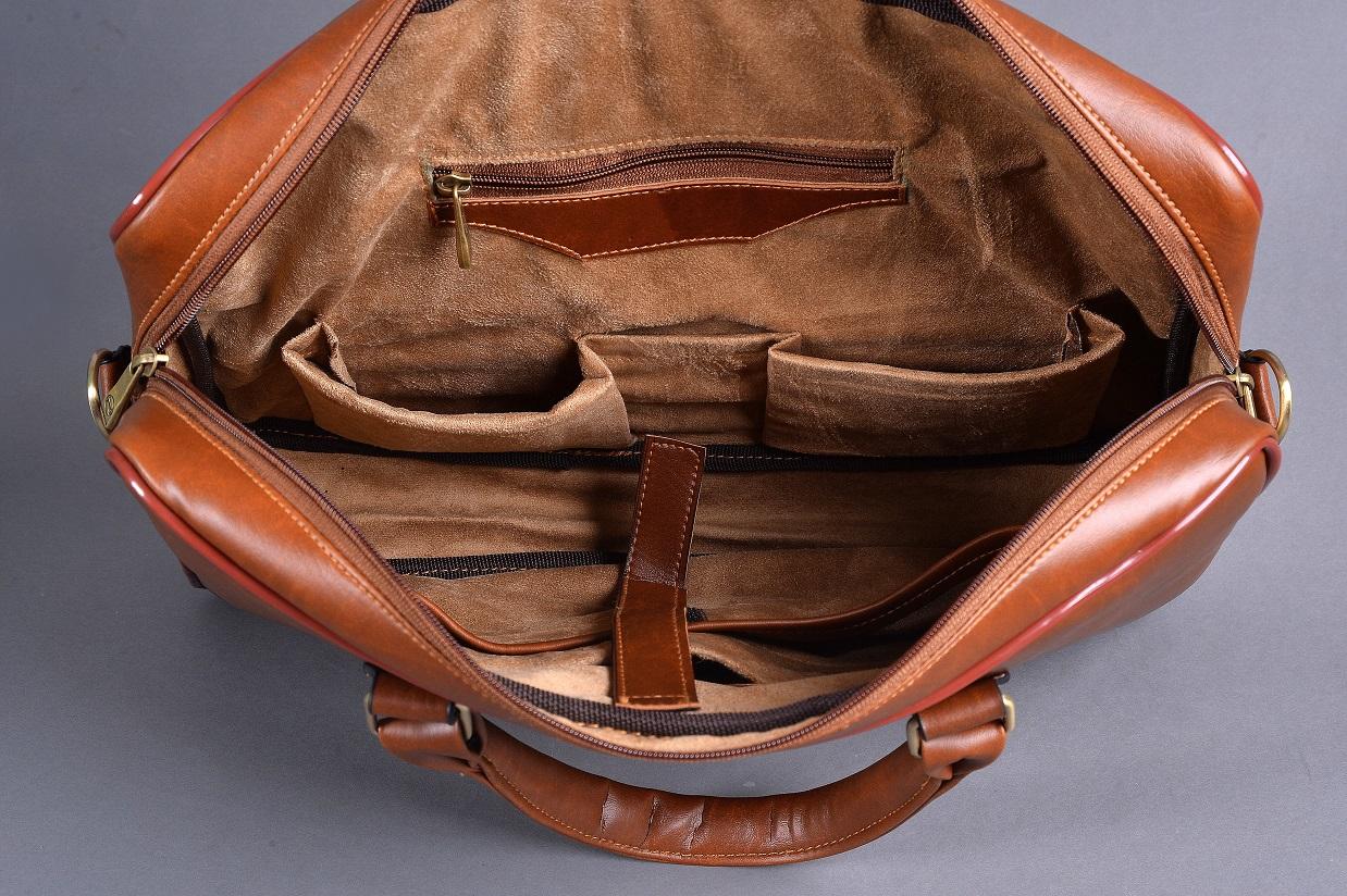 Túi da nam đựng laptop DS02 cao cấp