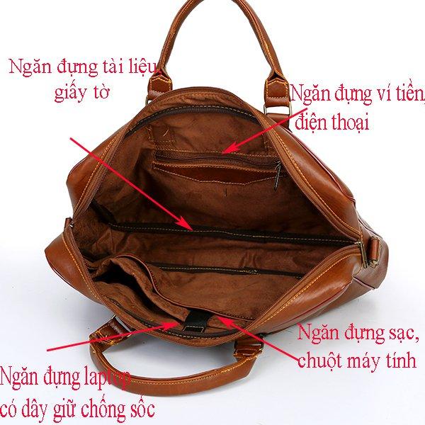 Túi da nam đựng laptop DS02 sành điệu