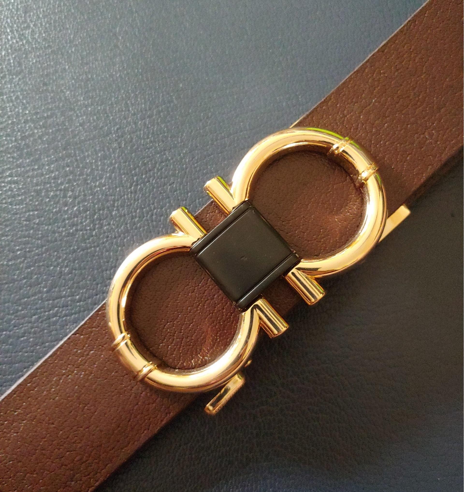 Thắt Lưng Nam Khóa Số 8 Gold Titan thời trang hàng hiệu