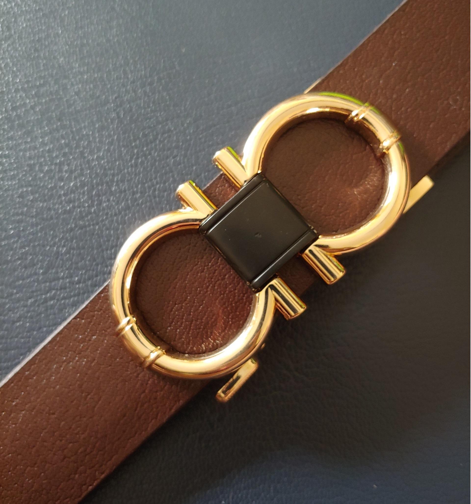 thắt lưng nam thời trang cao cấp khóa Gold