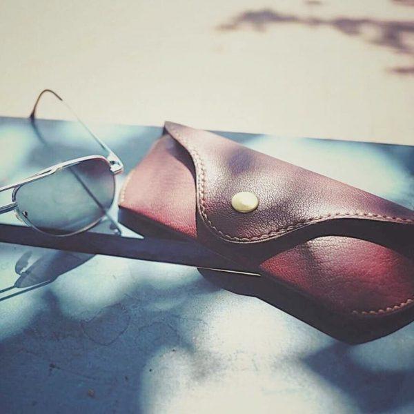 Bao da đựng mắt kính handmade