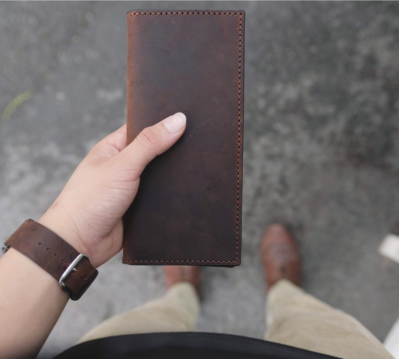 bộ sưu tập ví da cầm tay handmade VDH4