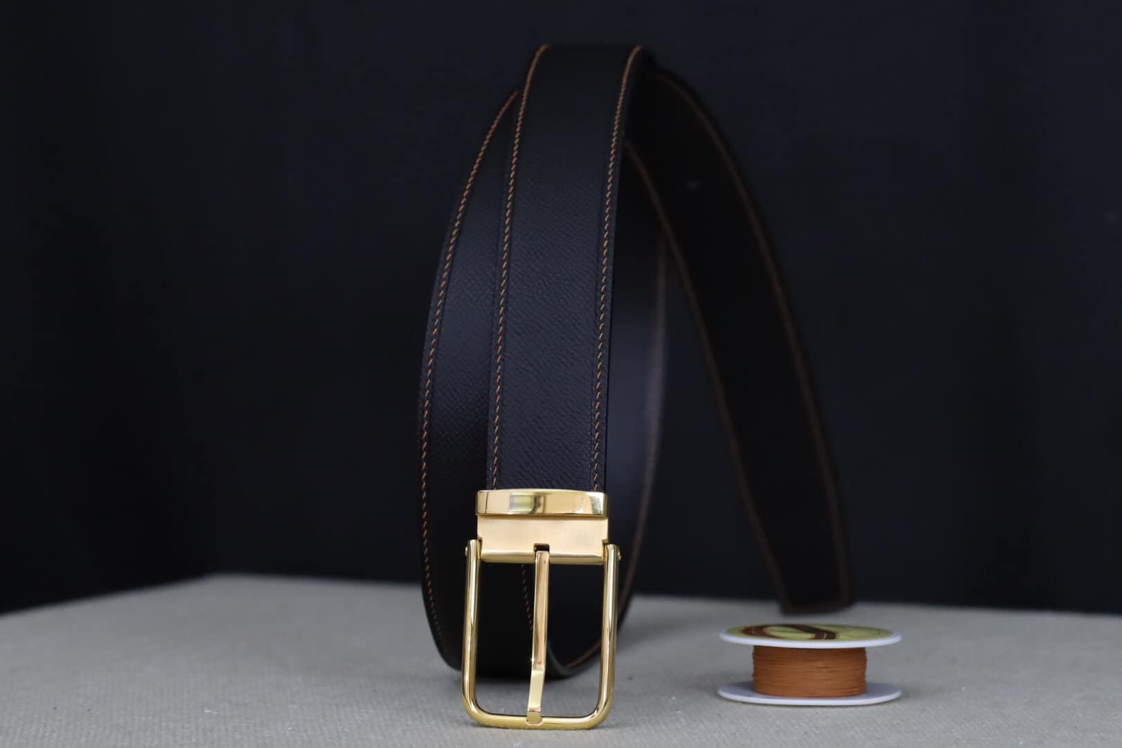 Thắt lưng nam da bò handmade da epsom
