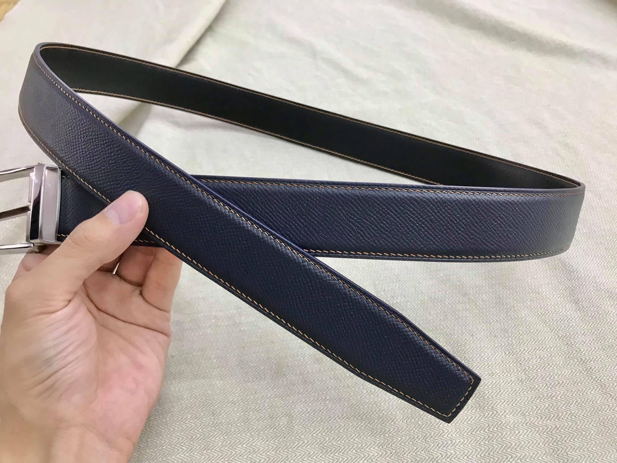 Thắt Lưng Nam Handmade Khóa Kim Da Epsom Đẳng Cấp Hàng Hiệu MS59-2