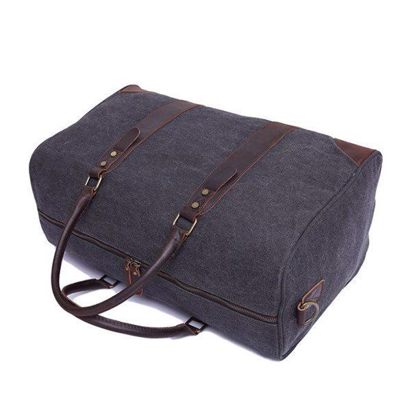 Túi xách du lịch thời trang vải bố cao cấp quai xách da bò nhập đẳng cấp 1M1
