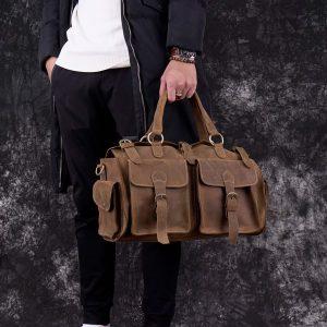 Túi trống da bò thời trang đẳng cấp túi xách du lịch hàng hiệu M80