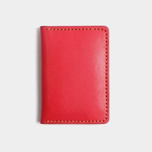 Bóp Da Mini Phiên Bản Unisex Da Bò Sáp Khâu Thủ Công MST1 Red-1