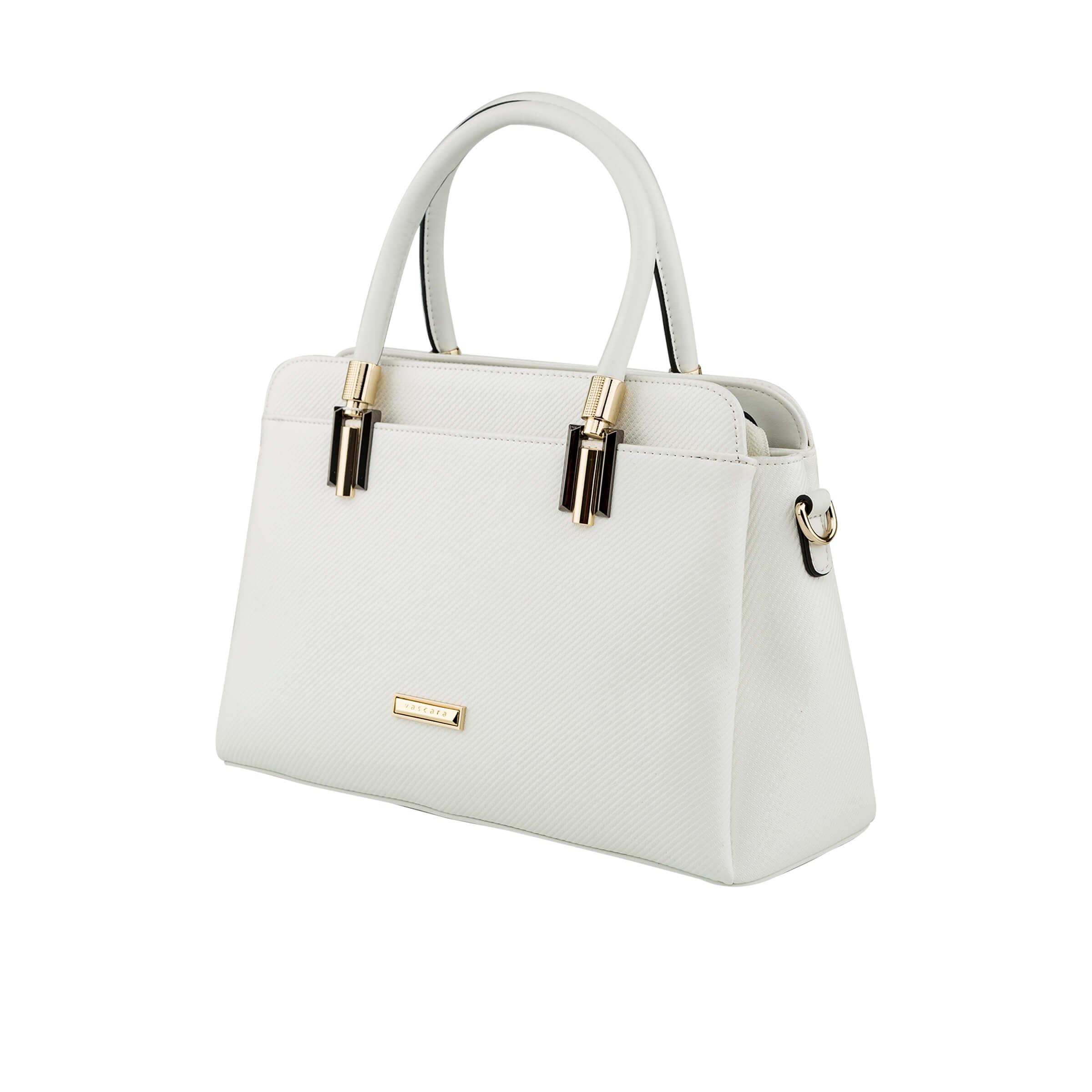 túi xách nữ màu trắng ánh bạc