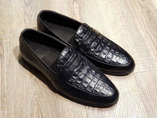 Giày lười nam công sở hàng hiệu da bò nhập cao cấp SG0092 Black