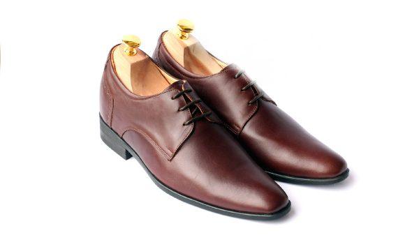 Giày Da Nam Tăng Chiều Cao SVN129 Brown