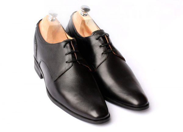 Giày Tăng Chiều Cao Cho Nam Da Bò Thật SVN129 Black