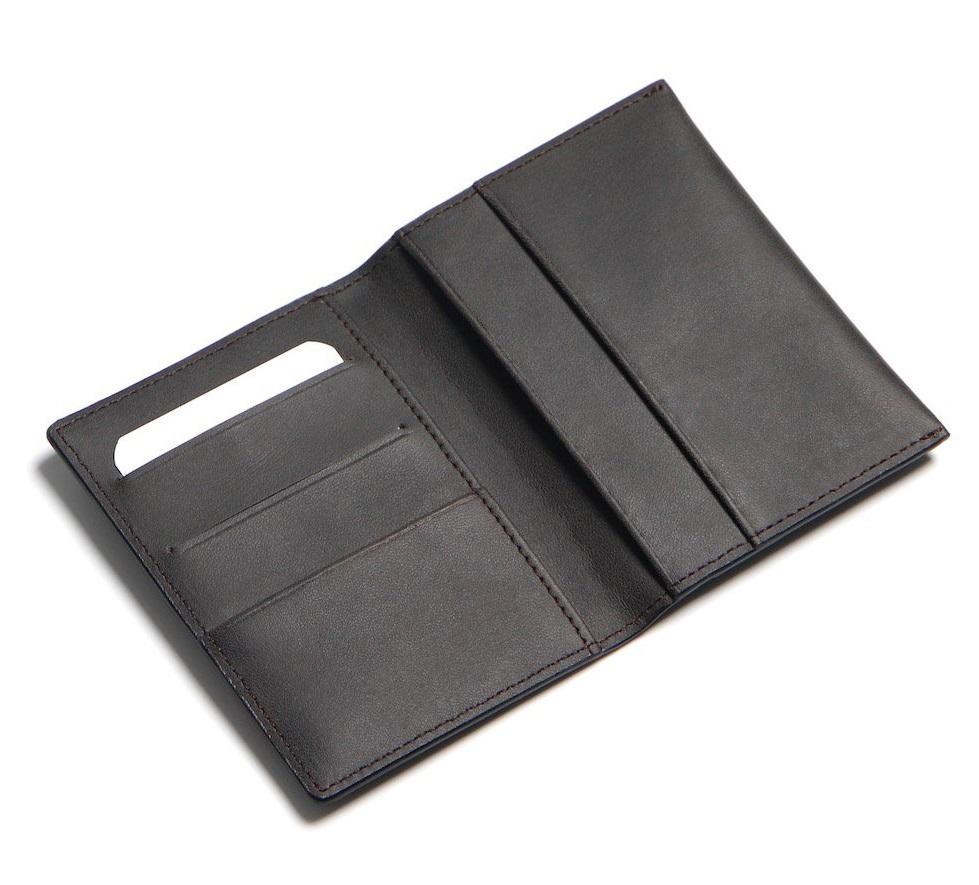 Ví Da Mini Handmade Hàng Hiệu Da Bò Thật MST2 Black-3