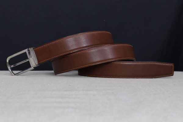 Thắt Lưng Nam Da Vachetta Handmade Cao Cấp Khóa Bấm Hàng Hiệu MS61