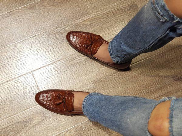 Giày lười nam da bò thật nhập Italy hàng hiệu cao cấp SG0092