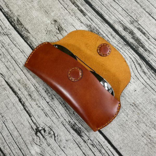 Bao Da Đựng Mắt Kính Da Bò Thật Hàng Hiệu Handmade SBK2