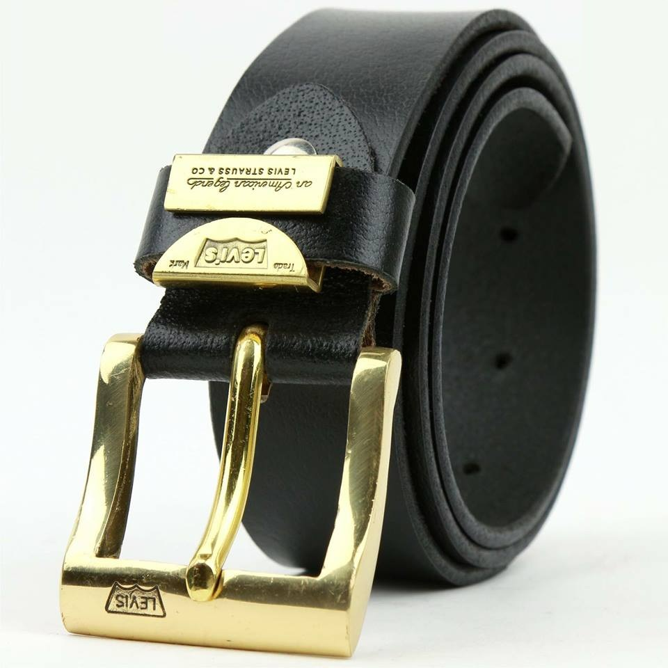 thắt lưng nam da bò thật nguyên miếng khóa đồng đúc nguyên khối