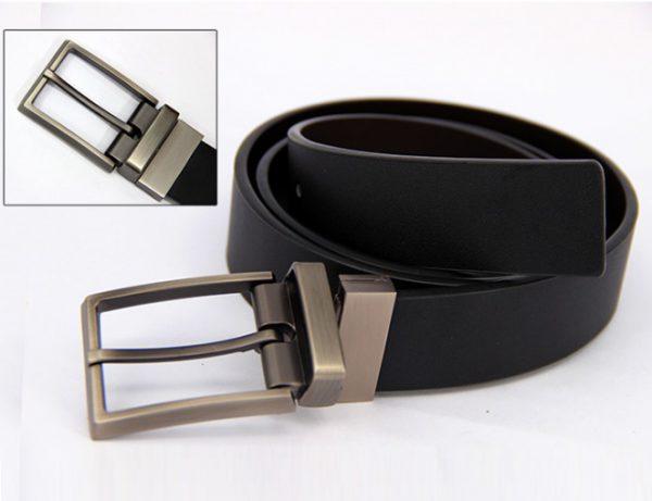 Thắt lưng nam da bò hàng hiệu khóa kim cao cấp cho doanh nhân SVN-K1