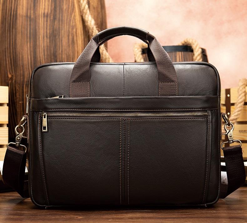 Túi Xách Nam Da Bò Thật Đựng Laptop Thời Trang Hàng Hiệu STX39-14