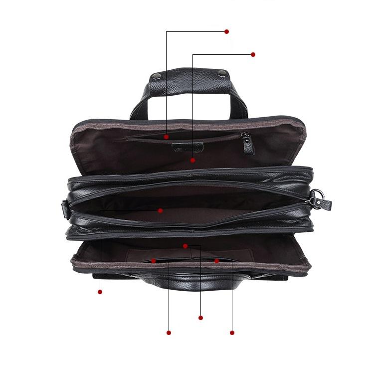 Túi Xách Nam Đựng Laptop 15.6inch Da Bò Thật Hàng Hiệu STX76 Black-3