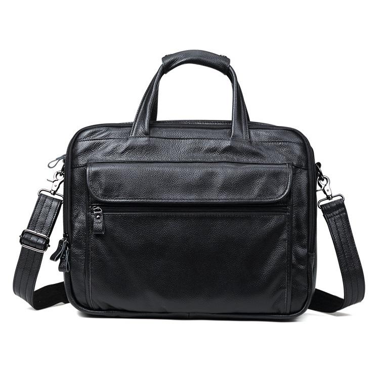 Túi Xách Nam Đựng Laptop 15.6inch Da Bò Thật Hàng Hiệu STX76 Black-4