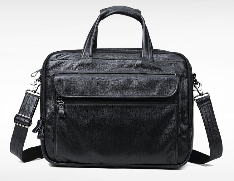 Túi Xách Nam Đựng Laptop 15.6inch Da Bò Thật Hàng Hiệu STX76 Black-6