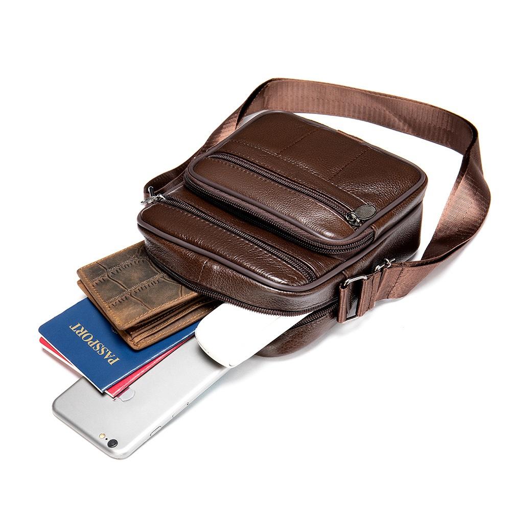 Túi Đeo Chéo Đựng iPad Da Bò Thật Thời Trang Hàng Hiệu STC85-10