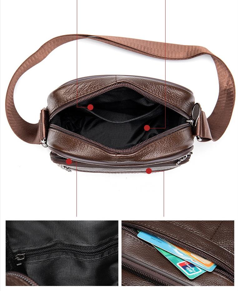 Túi Đeo Chéo Đựng iPad Da Bò Thật Thời Trang Hàng Hiệu STC85-13