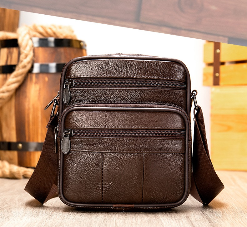 Túi Đeo Chéo Đựng iPad Da Bò Thật Thời Trang Hàng Hiệu STC85-7