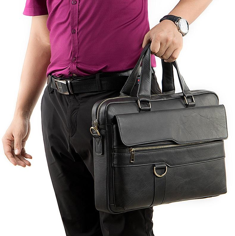 Túi xách nam da bò thật hàng hiệu đựng laptop STX19-13