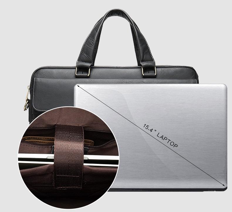 Túi xách nam da bò thật hàng hiệu đựng laptop STX19-2