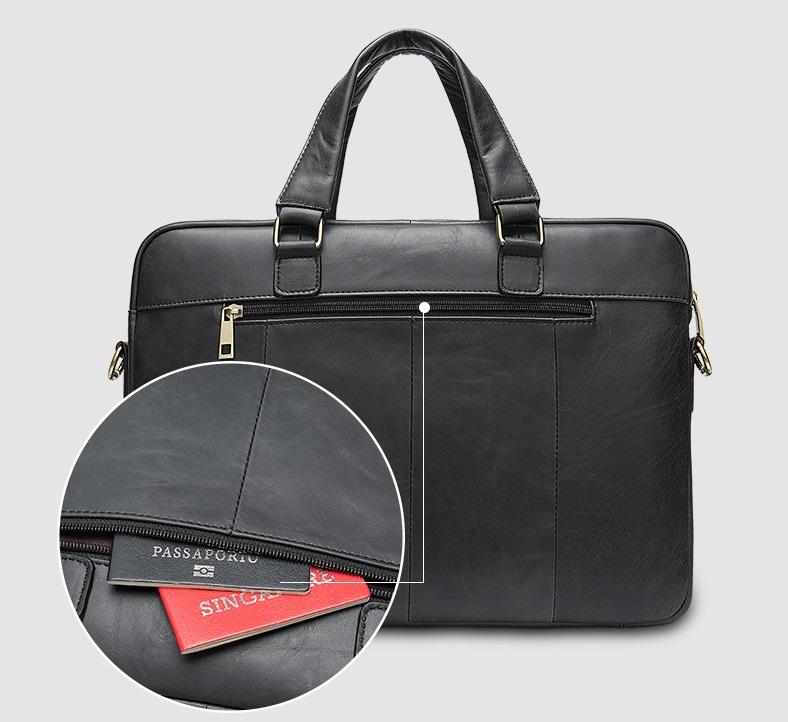 Túi xách nam da bò thật hàng hiệu đựng laptop STX19-3
