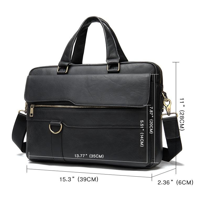 Túi xách nam da bò thật hàng hiệu đựng laptop STX19-5