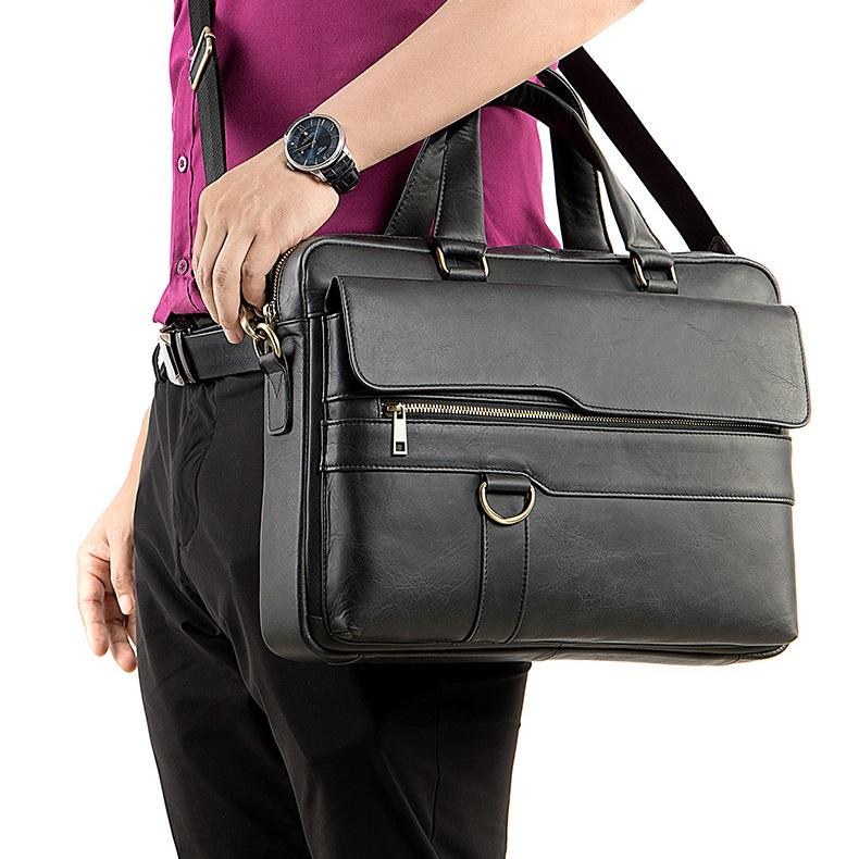Túi xách nam da bò thật hàng hiệu đựng laptop STX19-14