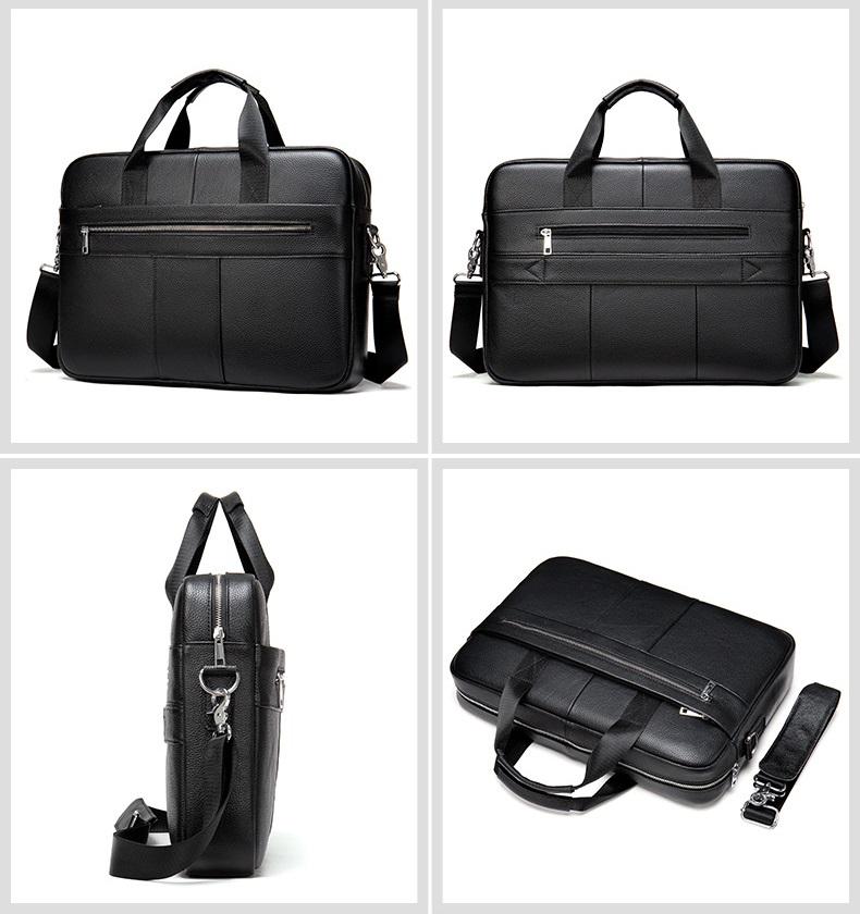 Túi Xách Nam Đựng Laptop Da Bò Thật Thời Trang STX58 Black