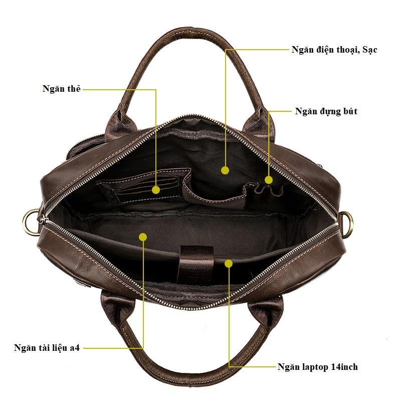 Túi Xách Nam Đựng Laptop Da Bò Thật Nhập Khẩu STX59 Gray-4