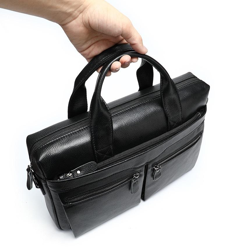 Túi Xách Nam Đựng Laptop Da Bò Thật Thời Trang STX39-8