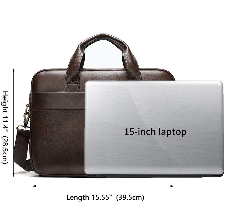 Túi Xách Nam Đựng Laptop Hàng Hiệu Da Bò Thật STX9